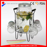 Оптовый стеклянный распределитель напитка питьевой воды с краном и стойкой