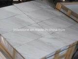 Белые мраморный плитки для настила или стены