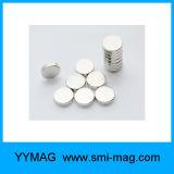 Kundenspezifischer Neodym-Platten-kleiner runder Magnet für Verkauf