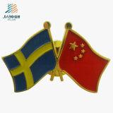 Perni su ordinazione della bandiera nazionale dello smalto placcati oro del pezzo fuso del campione libero