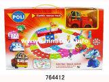 presente de promoção de brinquedos de plástico puxe de volta na pista carro (825011)