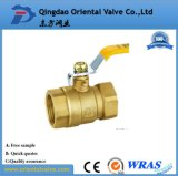 """Válvula de esfera de bronze Fornecedores de fábrica Válvula de bola de bronze de meia água com pressão média de 1/2 """""""