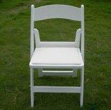 イベントのための屋外の結婚式の樹脂のWhtieの折りたたみ椅子