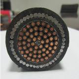 Câble souterrain blindé isolé par PVC de cuivre de commande de fil d'acier de la SWA de noyau