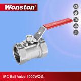 Le robinet à tournant sphérique de la qualité 1PC avec réduisent le port, 1000wog, Pn64