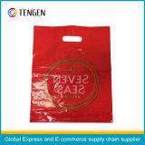 繊細なデザインのPEのプラスチックハンドルのショッピング・バッグ