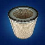 El polvo cerco el polvo del cartucho de filtro cerco el filtro