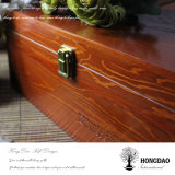 Caja de embalaje del zapato de madera de encargo de Hongdao con la tapa con bisagras Wholesale_F