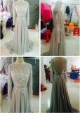Vestido nupcial E13174 do partido do baile de finalistas do casamento de 2017 luvas longas completas de Eliesab do corpete do vestido de noite