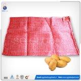 Durável 25kg Saco de malha de polietileno para embalagens de laranjas e batatas