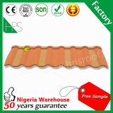 50 ans de garantie de haute qualité Stone enduire tôle de toit de feuilles de carton ondulé galvanisé
