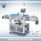 Aplicador redondo automático de la máquina de etiquetado del abrigo de la etiqueta engomada del código de barras del tarro de Skilt