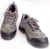 Suede de couro de alta tensão de resistência respirável sapatos de segurança em estoque
