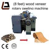 8 do folheado de madeira do registro de Spindleless pés de máquina giratória do torno da casca