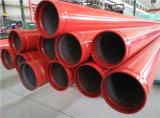 Sch40 UL FMの赤いペンキの溝の端の消火活動鋼管