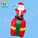 Finego verziert drehende Weihnachtsfest-Dekoration aufblasbare Spielwaren-Karikatur Weihnachtsmann