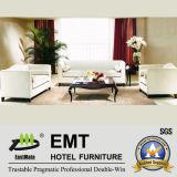 Sofa blanc pur élégant d'hôtel de conception réglé (EMT-SF07)