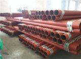 As1074 pipe en acier peinte rouge d'arroseuse de lutte contre l'incendie moyen de l'UL FM