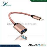 Tipo flexível USB OTG de C e USB3.0 Af para um mais 2 dados do cabo