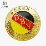 Botón redondo grabado oro del Pin del color del esmalte de la alta calidad del precio al por mayor