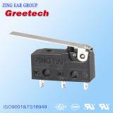 interruptor do micro do interruptor da ação da pressão da aprovaçã0 do UL de 0.1A 5A 10A ENEC