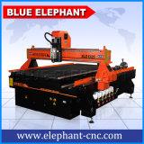Elefante 1325 do router resistente do CNC, router de madeira do CNC 3D, máquina azul de China de gravura de madeira do CNC de 4 linhas centrais
