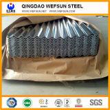 L'épaisseur 0,8mm 1000 de la largeur de la plaque de carton ondulé en acier galvanisé