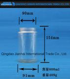De Jampot van het Glas van groenten in het zuur met het Deksel van het Roestvrij staal