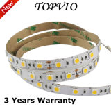 DC12V / 24V 5m / Roll 5050 60LED / M Color Blanco IP20 LED Light Strip