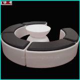 Mobiliário de exterior com LED de luz LED de mesa e cadeira de mobiliário