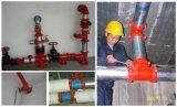 Raccord de tuyau cannelé en fonte ductile le raccord en T avec FM/UL