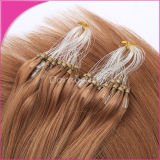0.8g/Strand Jet Black 인도 Remy Hair Cold Fusion Loop Hair Extensions