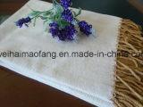 Manovella Herringbone tessuta del cotone puro con frangia