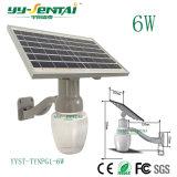 IP65 de alta potencia LED 6W Solarlight LED de Exteriores de pared deluz solar en forma de manzana