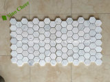 Reticolo di mosaico di marmo bianco del Chevron delle mattonelle della parete interna