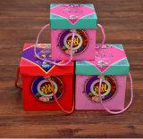 Caixa de presente de papel quadrado criativo de estilo chinês, caixa de presente de lanche de mão