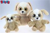 Spielt grosses Eyesplush Hundespielzeug angefülltes Brown-sitzendes Hundetier Bos1169