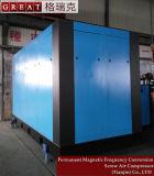 Compresor de aire rotatorio del tornillo del uso dos de la industria de la metalurgia de la explotación minera