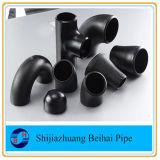 Acessórios de tubos de aço carbono 90 Deg Lr Bw Elbow ASTM A234 Wpb Sch40