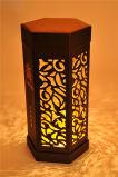 Pacote de papel de luxo com caixas de mooncake com luz LED