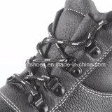 De gespleten Schoenen van de Bedrijfsveiligheid van het Leer met de Teen Snb1261 van het Staal