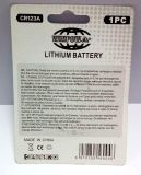 bateria de lítio preliminar de 3V Cr123A