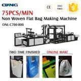 Automatic Nonwoven sacos de compras de livros a máquina