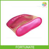 Bolso plástico del hueso del rojo de la cremallera de rubíes del PVC para los regalos