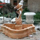 Senhora Estátua de suporte de escultura de pedra fonte de mármore (SY-F040)