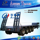 Customizable 3/4/5 Axles Strong Ramp를 가진 Hot Sale를 위한 50/80/100 Tons Heavy Machine Transport Low Flat Bed Semi Truck Trailer