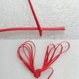 шнур рейона красного цвета 4mm с хлопчатобумажной стержневой нитью