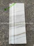 Moldeado de mármol blanco de la corona, Baseboard que bordea de mármol, bordeando el Baseboard