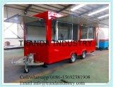 De moderne Vrachtwagens die van het Roomijs de Aanhangwagens van de Hotdog van de Vrachtwagen richten zich