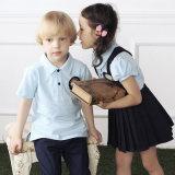 Couleurs personnalisées des uniformes scolaires jupe Tee-shirt et pli